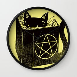 Witchcraft Cat Wall Clock