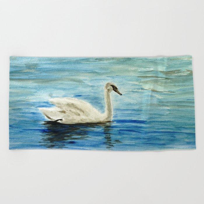 swan Beach Towel