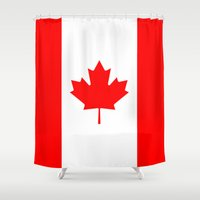 canada Shower Curtains featuring Canada by McGrathDesigns