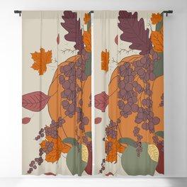 Autumnal Bouquet Blackout Curtain