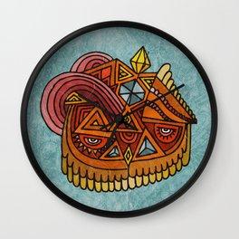 The Crystal Owl Wall Clock