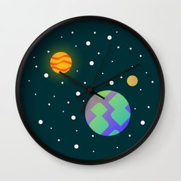 Our place in space Wall Clock