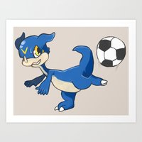 digimon Art Prints featuring Digimon - V-mon by Hacha