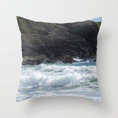 White Surf Throw Pillow