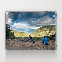 Cycling to the rainbow Laptop & iPad Skin