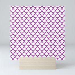 Scales (Purple & White Pattern) Mini Art Print