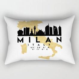 MILAN ITALY SILHOUETTE SKYLINE MAP ART Rectangular Pillow