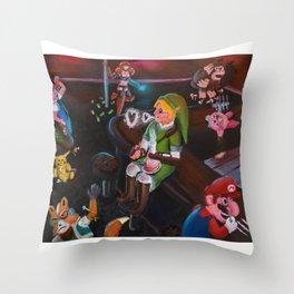 Dive Bar Nintendo Throw Pillow