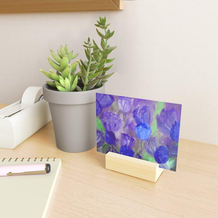 Breaking Dawn in Shades of Deep Blue and Purple Mini Art Print