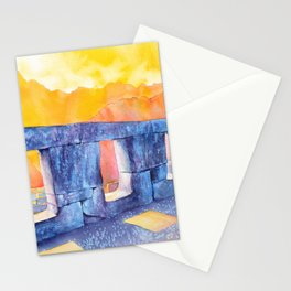 Temple of Three Windows at Machu Picchu Incan ruins- Sacred Valley, Peru Stationery Cards