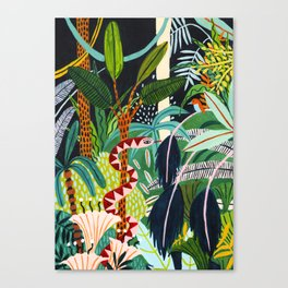 The Jungle at Midnight Canvas Print