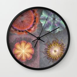 Absenters Intermixture Flower  ID:16165-065456-80170 Wall Clock