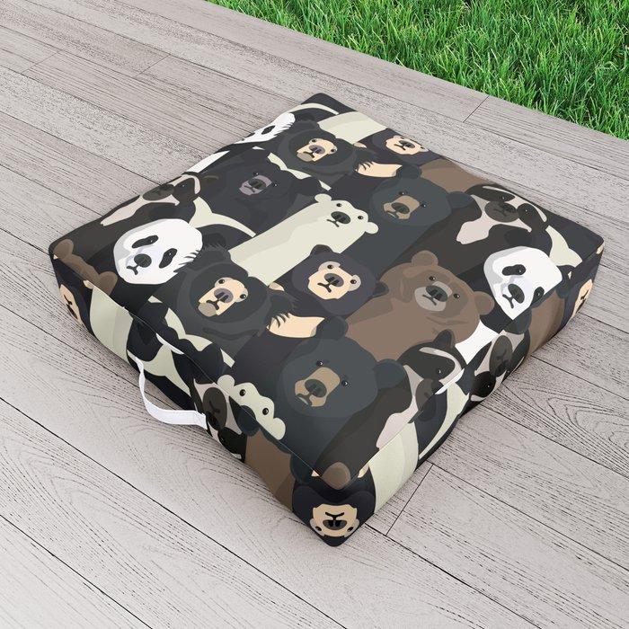 Bears of the world pattern Outdoor Floor Cushion