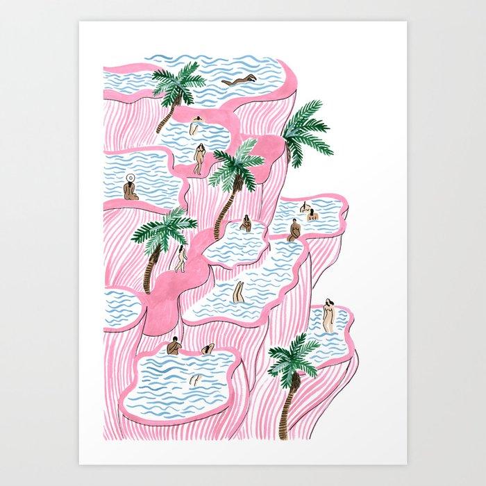 Pamukkale Art Print