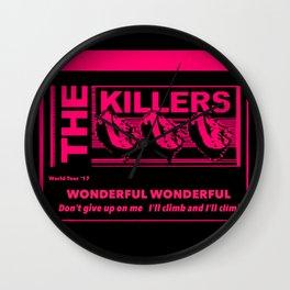 The Killers Wonderful Wonderful Wall Clock