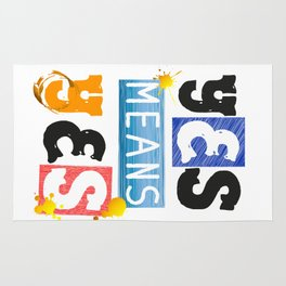 """YES means YES - SB 967 - California's so-called """"yes means yes"""" law Rug"""