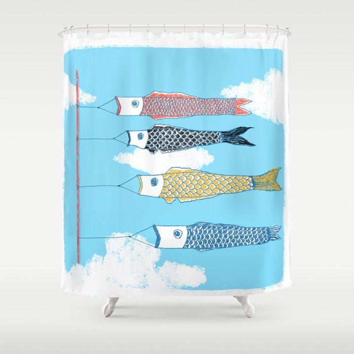 Koinobori Shower Curtain