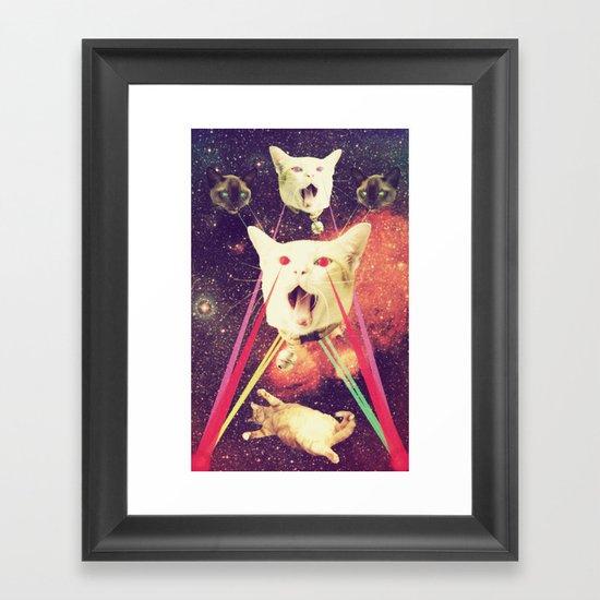 galactic Cats Saga 4 Framed Art Print