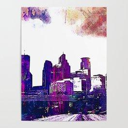 Minneapolis, Minnesota Skyline Poster