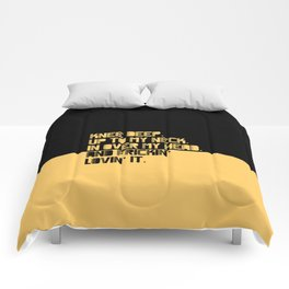 Knee Deep. Up To My Neck. In Over My Head. Yellow-black Comforters
