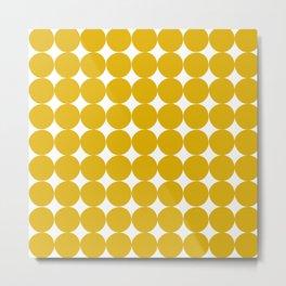 Handdrawn Circle Pattern Metal Print