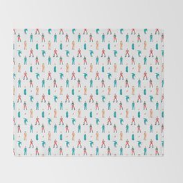 The Land of Bowie Throw Blanket