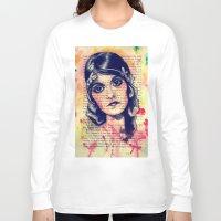 poppy Long Sleeve T-shirts featuring Poppy by Olga Noes