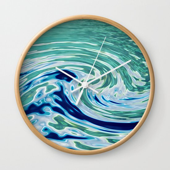 OCEAN ABSTRACT 2 Wall Clock
