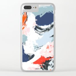 Abstract Color Pop Clear iPhone Case