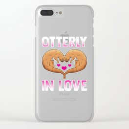 Cute Otterly In Love Otter Pun Utterly In Love Clear iPhone Case