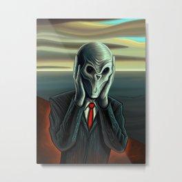 Silent Scream - The Silence Metal Print