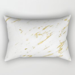 Marble - Yellow Gold Marble Design Rectangular Pillow