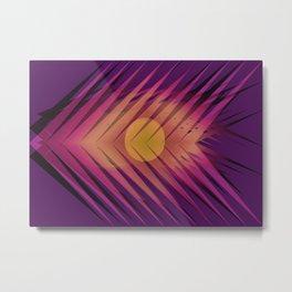 Sun Arrows print Metal Print