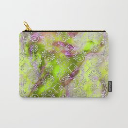 Psicodelic Adventure - Yellowish Green Carry-All Pouch