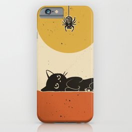 Spider came down iPhone Case