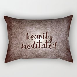 polygon mandala 01 // heavily meditated copper Rectangular Pillow