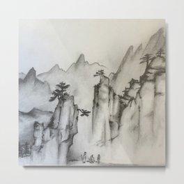 Three Travelers Metal Print