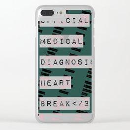 HEART</3BREAK green Clear iPhone Case