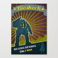 bioshock Canvas Prints featuring BioShock by Anton Lundin