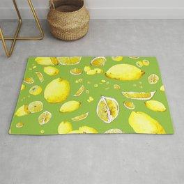 Lemon Lust on Green Rug