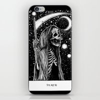 tarot iPhone & iPod Skins featuring Death Tarot by Corinne Elyse