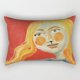 Yellow hair Rectangular Pillow
