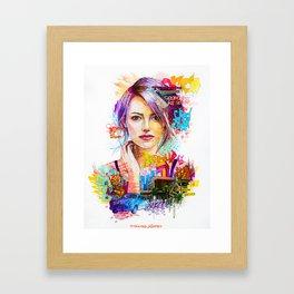 Pensive girl Framed Art Print
