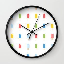 Popsicle - Bright #426 Wall Clock