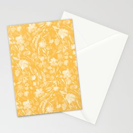 Upside Floral Golden Yellow Stationery Cards