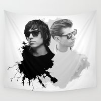 arctic monkeys Wall Tapestries featuring the Arctic Strokes by Daniac Design