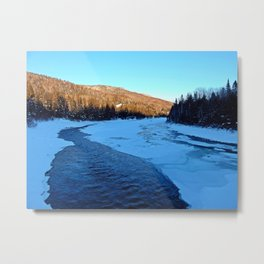 Frozen Mountain River Metal Print