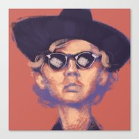 cassia beck Canvas Prints featuring Beck by ShannonMarieMack