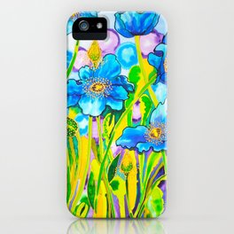 Blue Poppies 2 iPhone Case