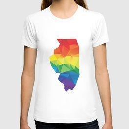 Geometric Pride Illinois T-shirt